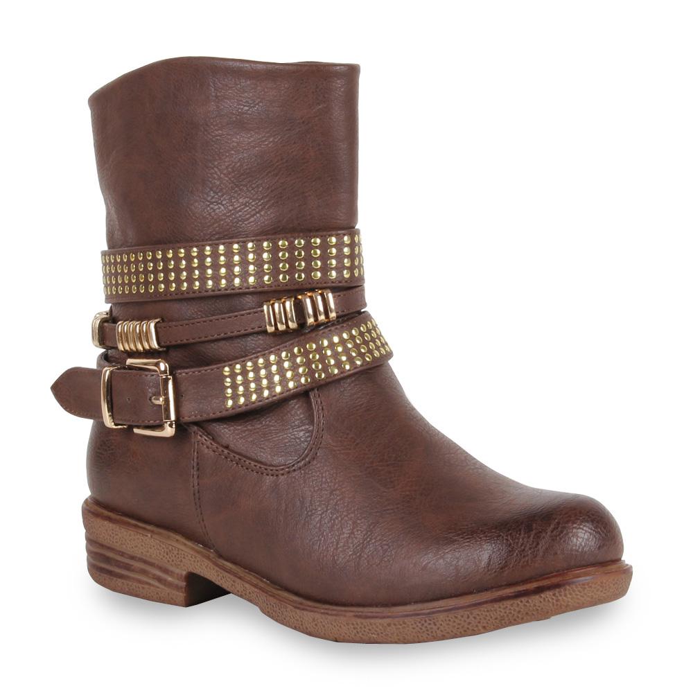 damen biker boots nieten stiefeletten stiefel schuhe 98504 gr 36 41 stylisch ebay. Black Bedroom Furniture Sets. Home Design Ideas