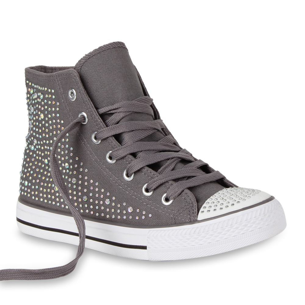 moderne damen sneakers strass sportschuhe sportliche schn rer 98539 gr 36 41 ebay. Black Bedroom Furniture Sets. Home Design Ideas
