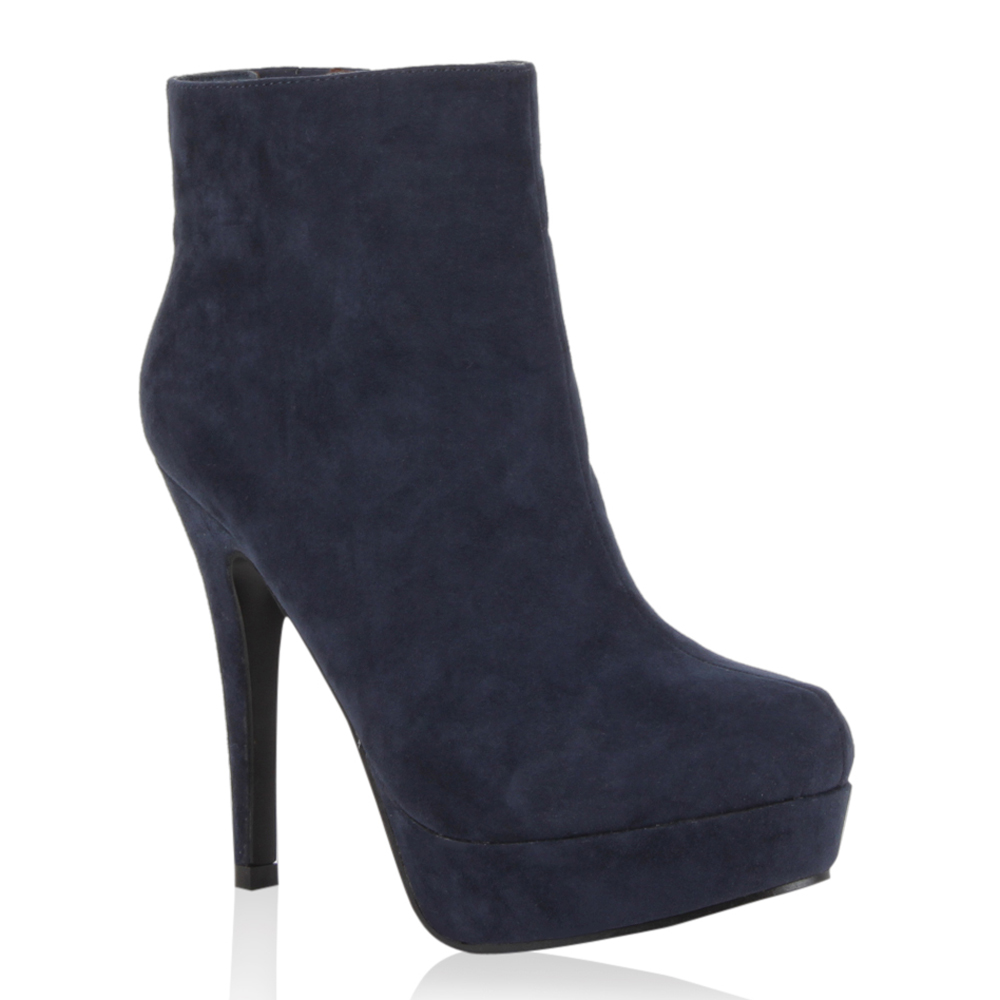damen plateau stiefeletten high heels schuhe lederoptik. Black Bedroom Furniture Sets. Home Design Ideas