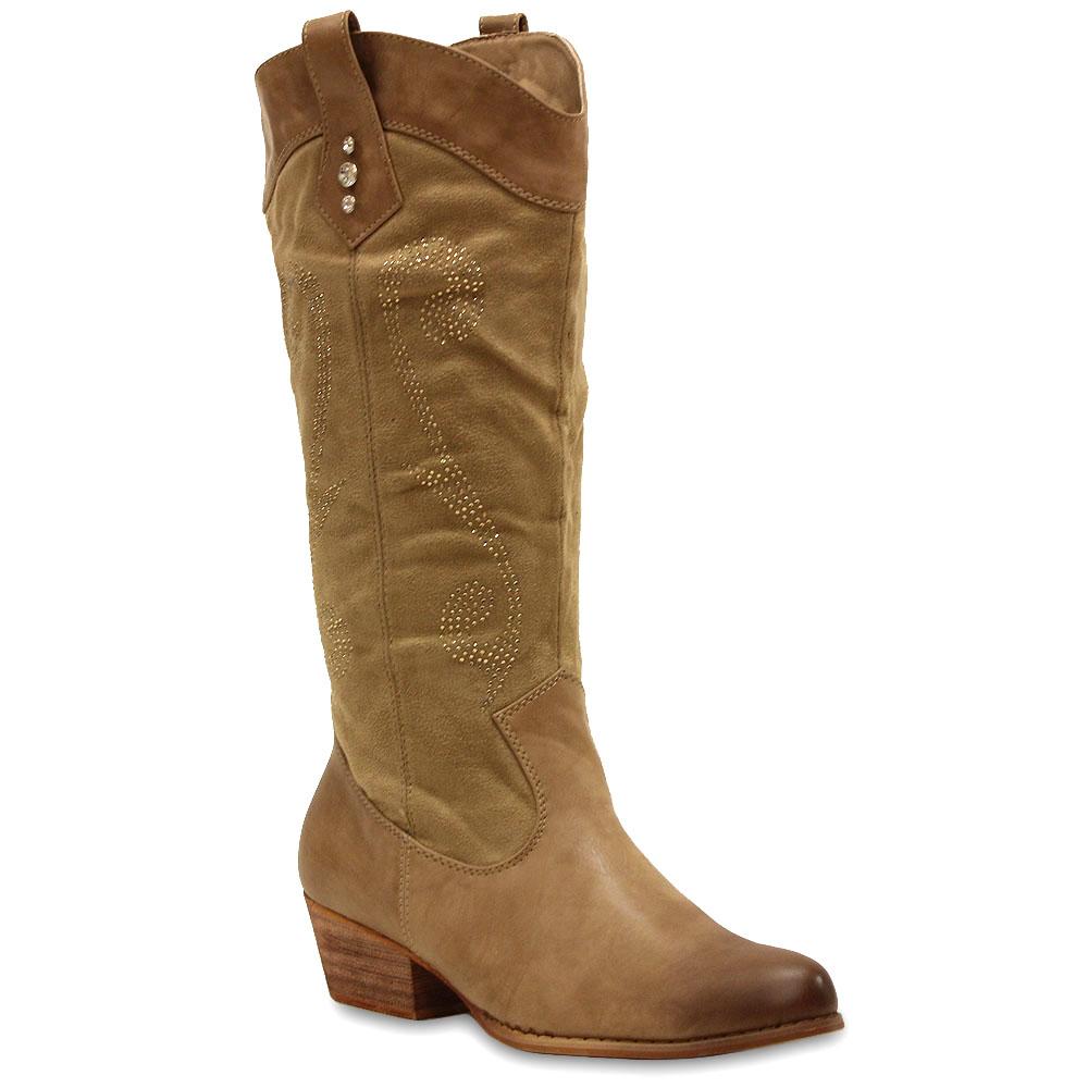 damen cowboy stiefel western stiefeletten strass boots 98616 gr 36 41 stylisch ebay. Black Bedroom Furniture Sets. Home Design Ideas
