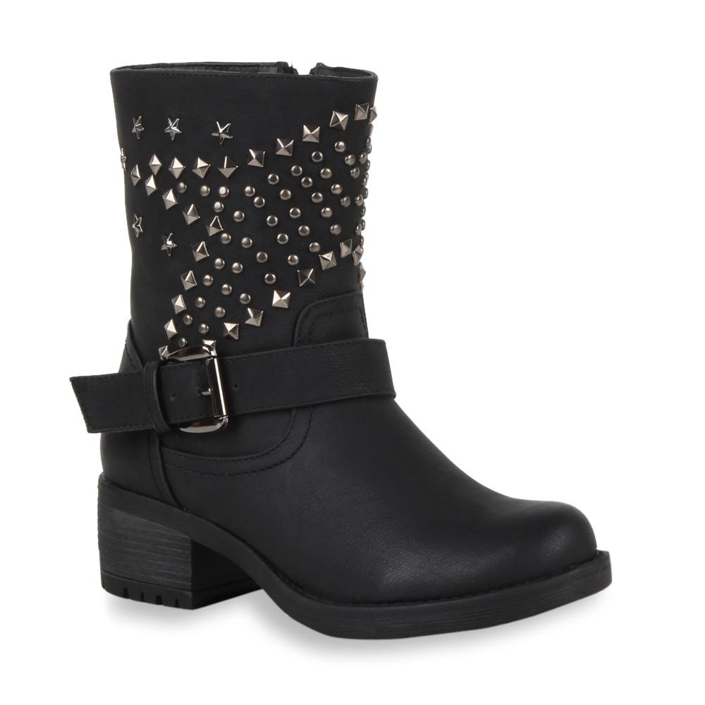 damen biker boots nieten stiefeletten stiefel schuhe 98625. Black Bedroom Furniture Sets. Home Design Ideas