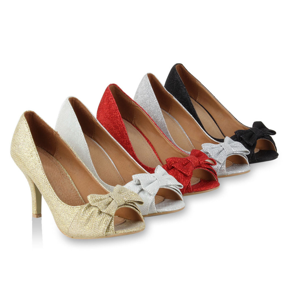 damen peep toe pumps retro high heels 50er jahre stil schuhe 98672 gr 36 41 ebay. Black Bedroom Furniture Sets. Home Design Ideas