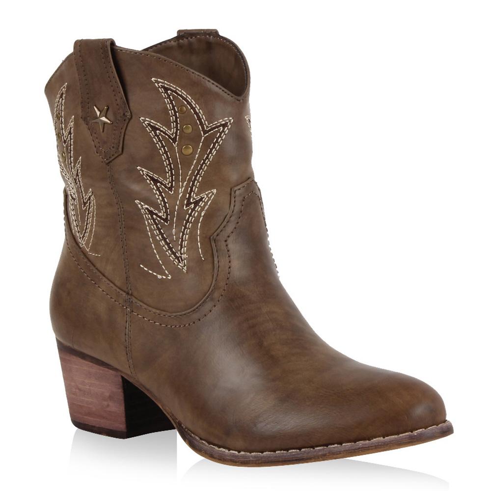 coole damen cowboy stiefeletten western stiefel schuhe 98679 gr 36 41 ebay. Black Bedroom Furniture Sets. Home Design Ideas