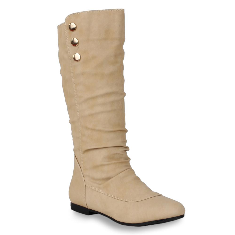 trendy flache boots bequeme damen stiefel stiefeletten. Black Bedroom Furniture Sets. Home Design Ideas