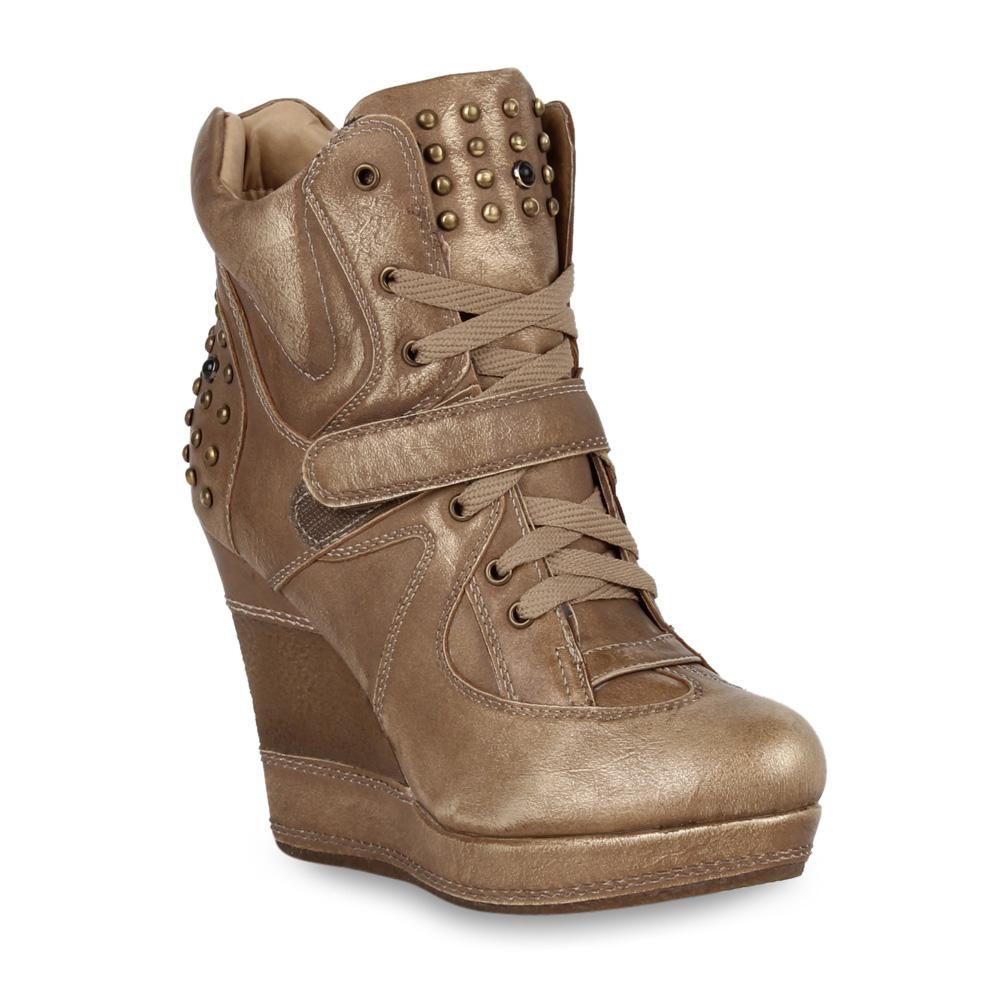 damen stiefeletten wedges high top sneakers keilabsatz schuhe 98874 gr 36 41. Black Bedroom Furniture Sets. Home Design Ideas