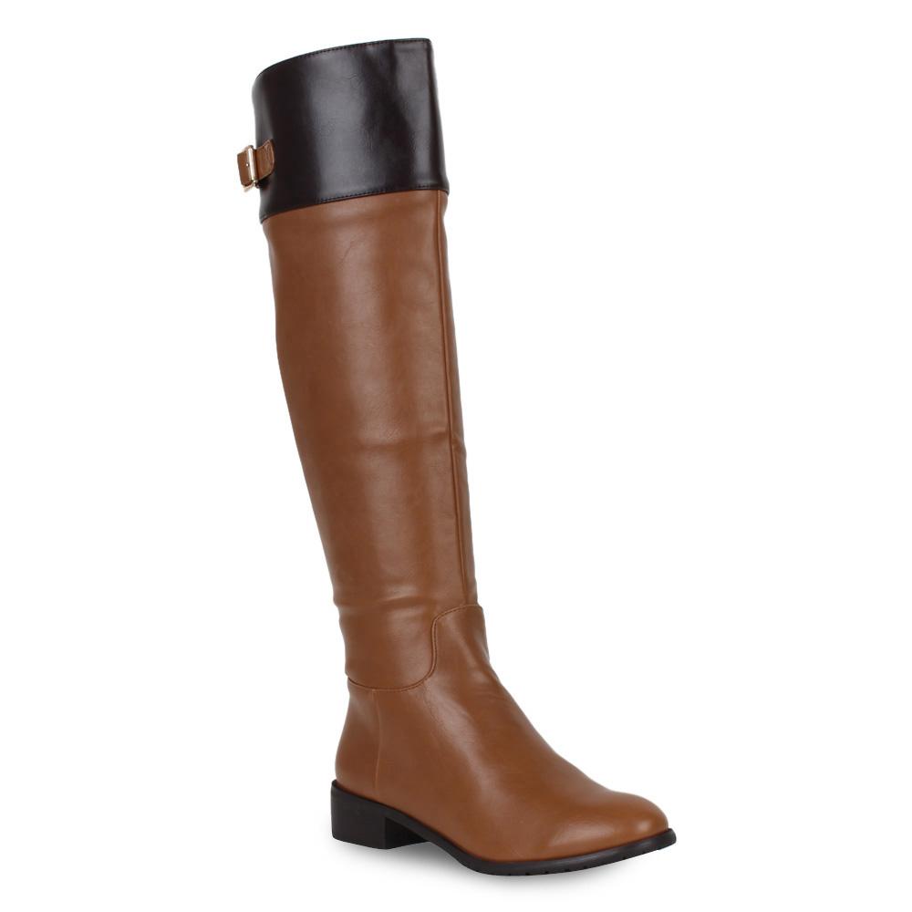 damen hochschaft stiefel flache boots elegante schuhe. Black Bedroom Furniture Sets. Home Design Ideas