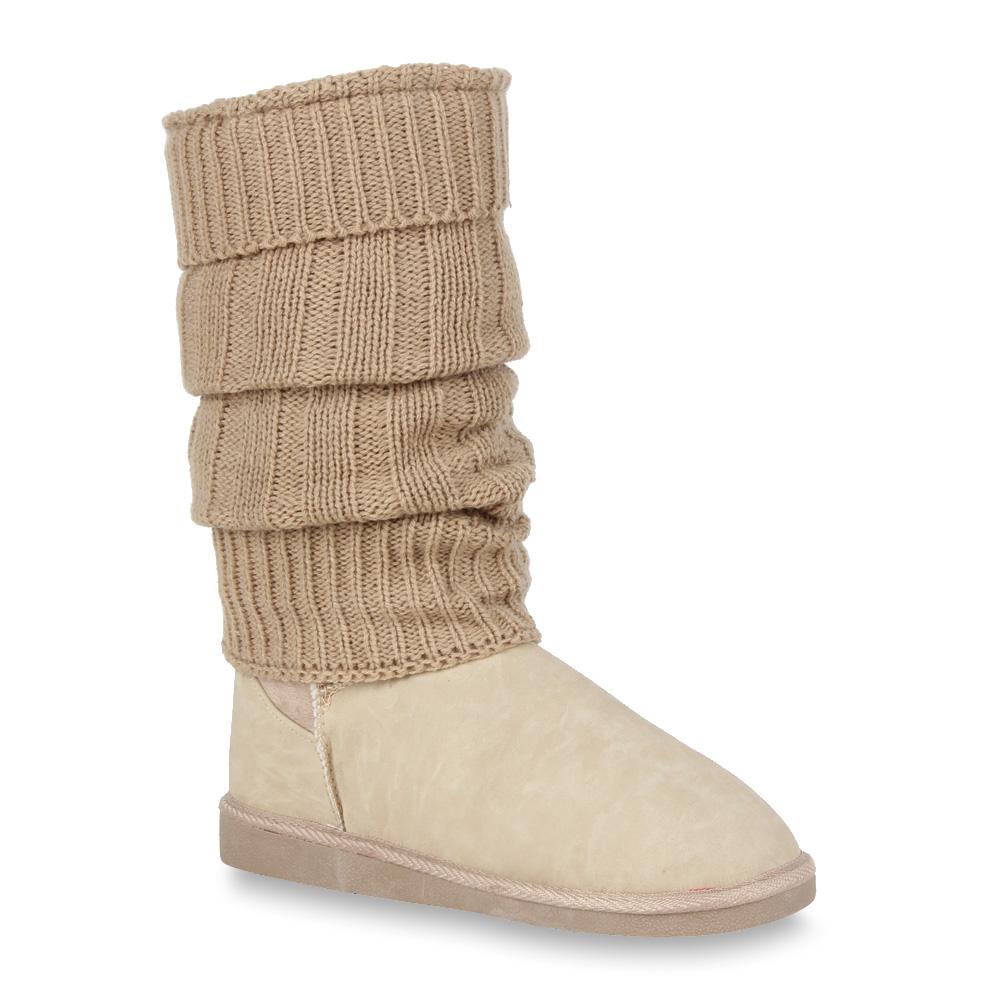 Coole-hohe-Yeti-Boots-Damen-Stiefel-Gefuettert-91159