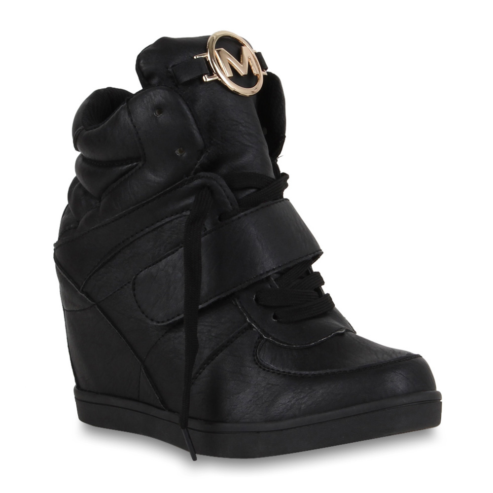 damen sneaker wedges sportliche keilabsatz stiefeletten schuhe 70086 gr 36 41 ebay. Black Bedroom Furniture Sets. Home Design Ideas