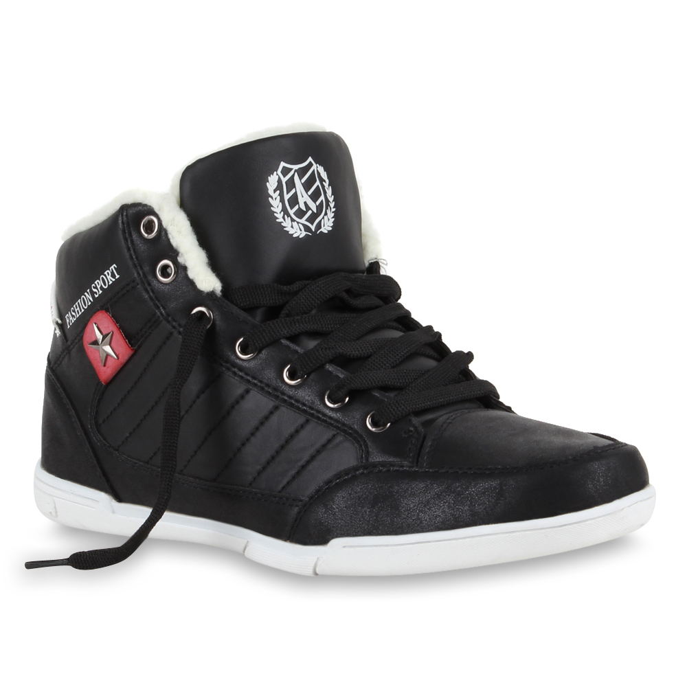 Herren-Winter-Sneakers-Retro-Schnuerer-Sportschuhe-Gefuettert-70148-Gr-40-45