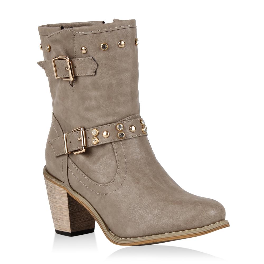 damen cowboy boots stiefeletten western stiefel nieten schuhe 70161 gr 36 41 ebay. Black Bedroom Furniture Sets. Home Design Ideas