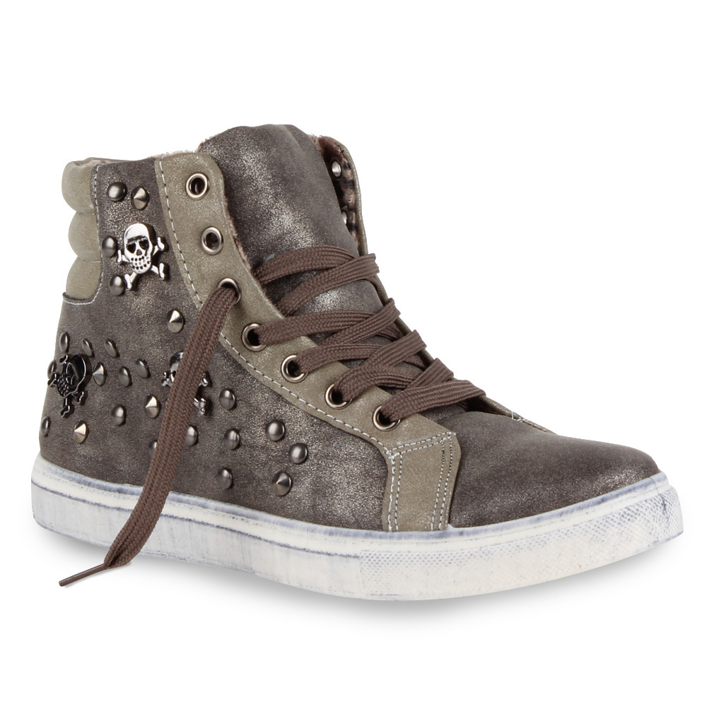 bequeme damen sneakers sportschuhe schuhe 70210 helle sohle totenkopf gr 36 41 ebay. Black Bedroom Furniture Sets. Home Design Ideas