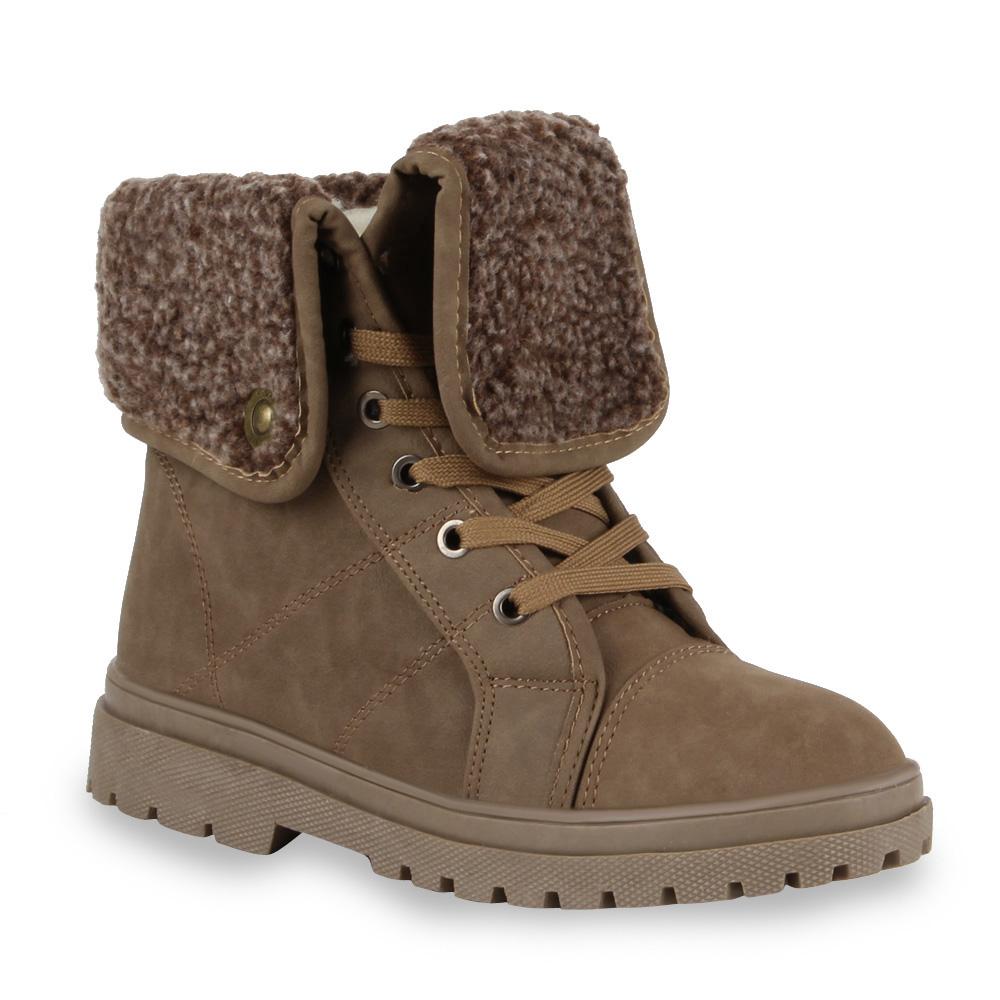 warm gef tterte damen stiefeletten 99298 outdoor boots gr. Black Bedroom Furniture Sets. Home Design Ideas