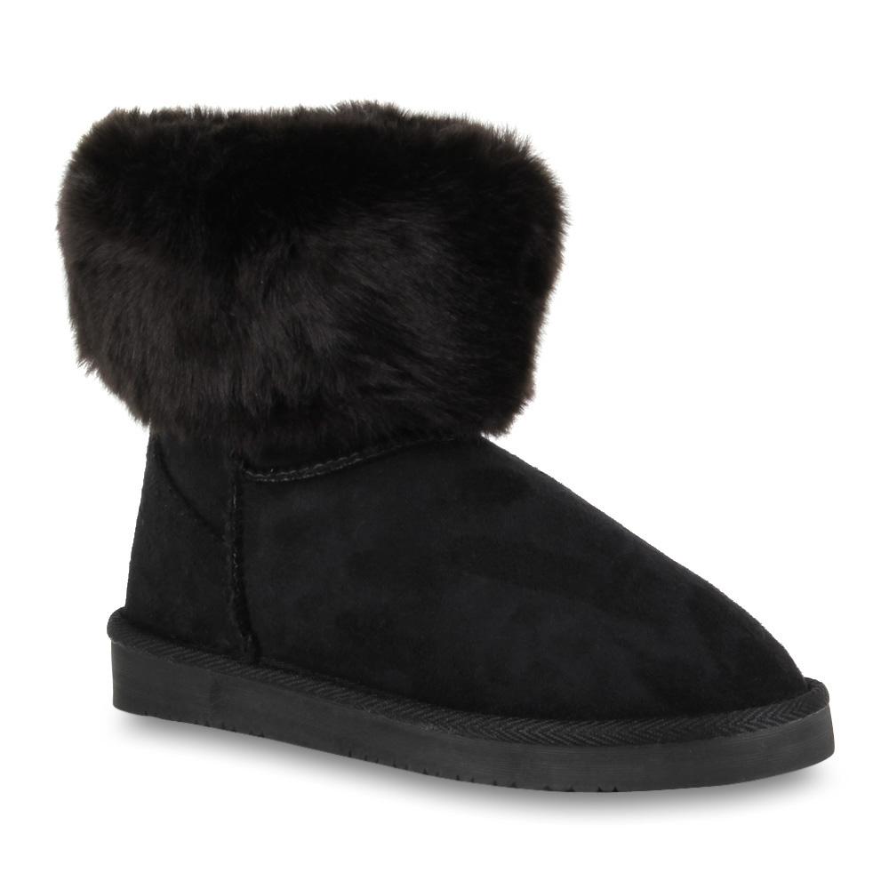 bequeme damen schlupfstiefel winter boots stiefeletten gef ttert 70351 gr 36 41. Black Bedroom Furniture Sets. Home Design Ideas