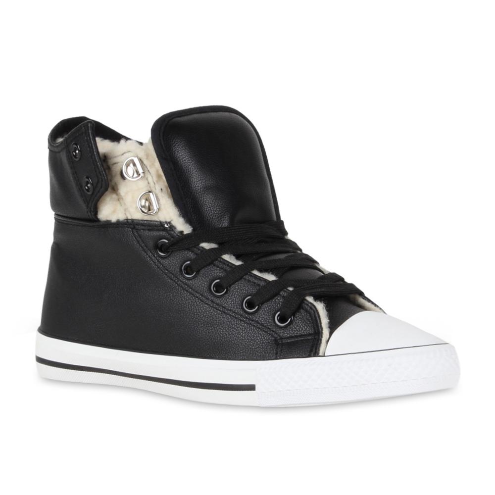 Damen-Winter-Sneakers-Gefuetterte-Sportschuhe-Ankle-Schnuerer-98816-Gr-36-41