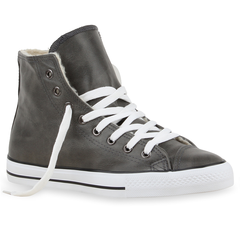 Warm Gefütterte Damen & Herren Sneakers High Top Sportschuhe 99680 Gr. 36-45
