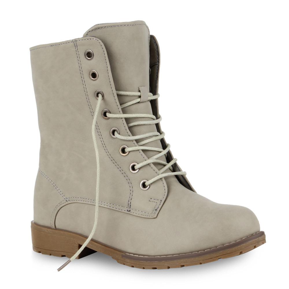 Biker-Boots-Damen-Stiefeletten-97990-Basic-Stiefel-Schuhe-Gr-36-42