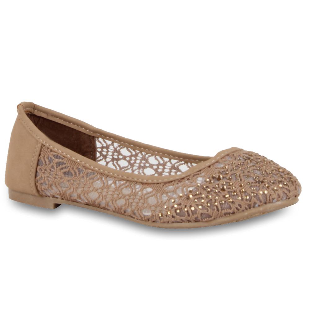 spitze ballerinas damenschuhe strass 70739 slipper gr 36 41 top. Black Bedroom Furniture Sets. Home Design Ideas