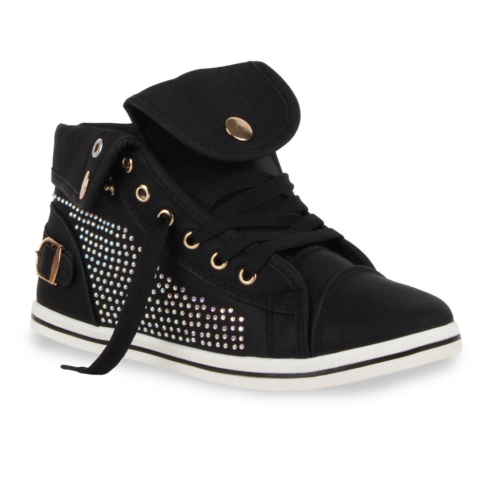 sportliche damen sneakers helle sohle strass schuhe 70783 gr 36 41 trendy ebay. Black Bedroom Furniture Sets. Home Design Ideas