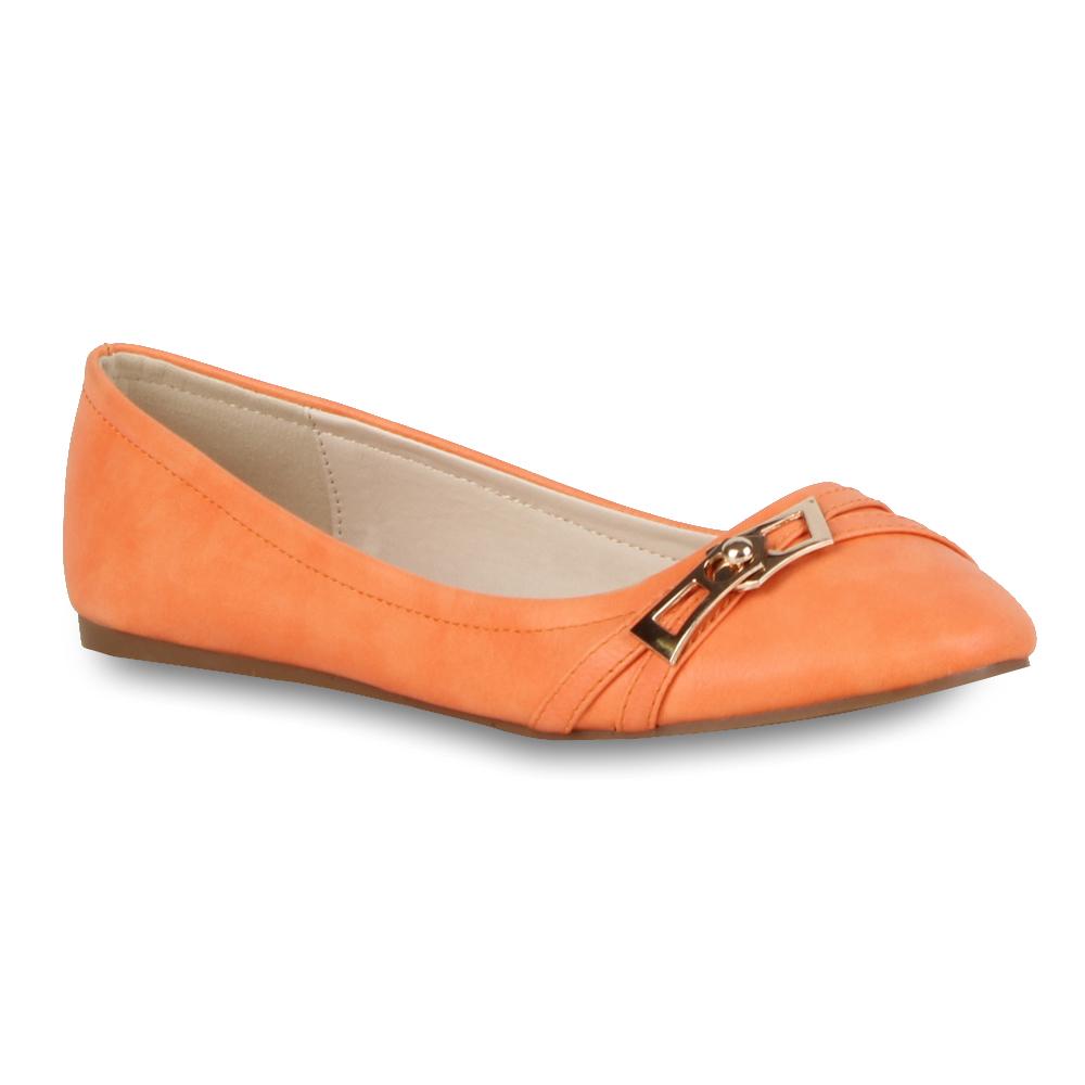 Elegante & Bequeme Damen Ballerinas Gold Schuhe 70825 Größe 36-41