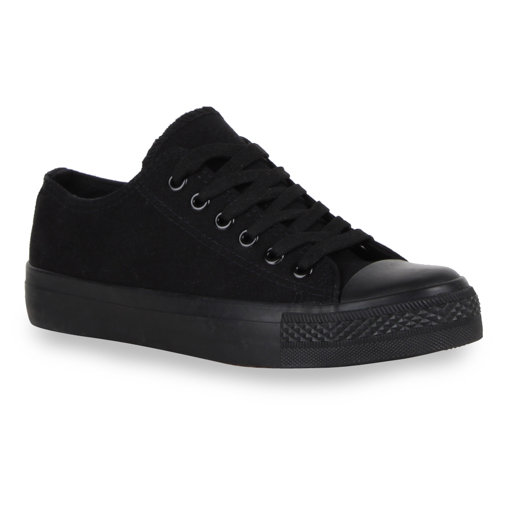 894943 Sportliche Damen Sneakers Lederoptik Schnürer Flach Schuhe Trendy