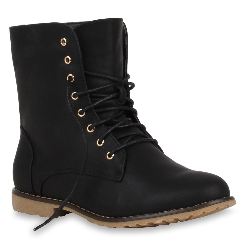 coole damen worker boots stiefeletten 70849 schuhe gr 36 41 modatipp ebay. Black Bedroom Furniture Sets. Home Design Ideas