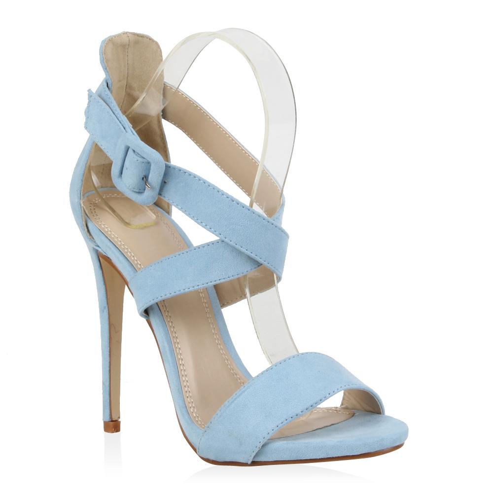 damen sandaletten high heels 70875 riemchensandaletten gr. Black Bedroom Furniture Sets. Home Design Ideas