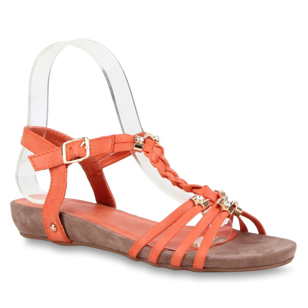 bequeme damen sandalen riemchensandalen 70941 strass gr 36 41 modatipp ebay. Black Bedroom Furniture Sets. Home Design Ideas