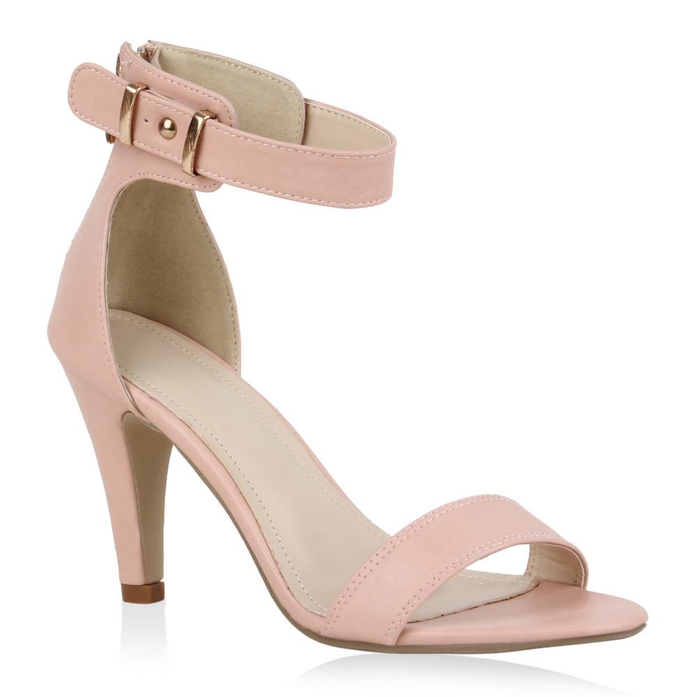 Damen Sandaletten Pastell High Heels 70965 Sommer Schuhe Gr. 36-41 Modatipp