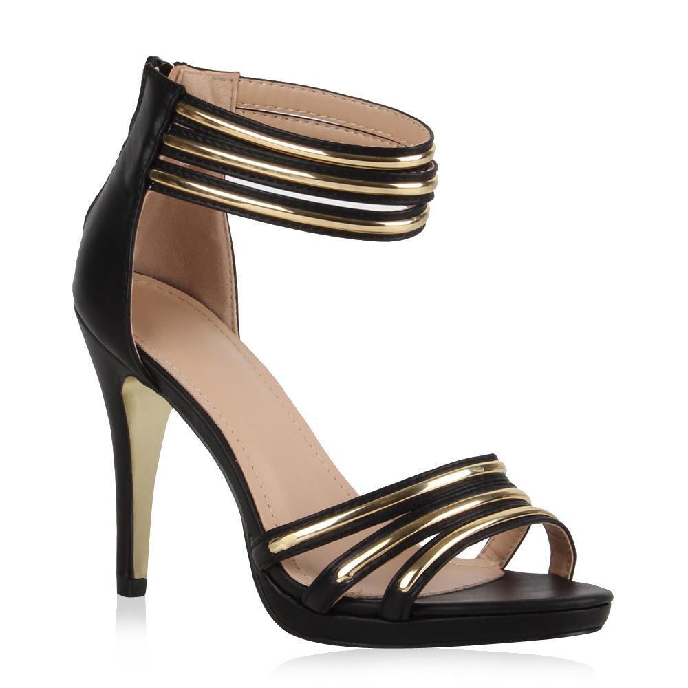damen sandaletten high heels riemchen 71006 sommer schuhe. Black Bedroom Furniture Sets. Home Design Ideas