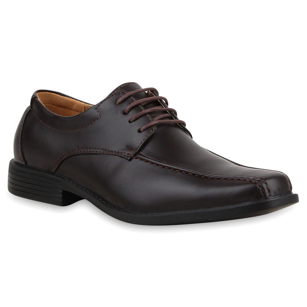 Klassische Herren Schnürer Business Schuhe Lederoptik 70409 Gr. 40-45 ...
