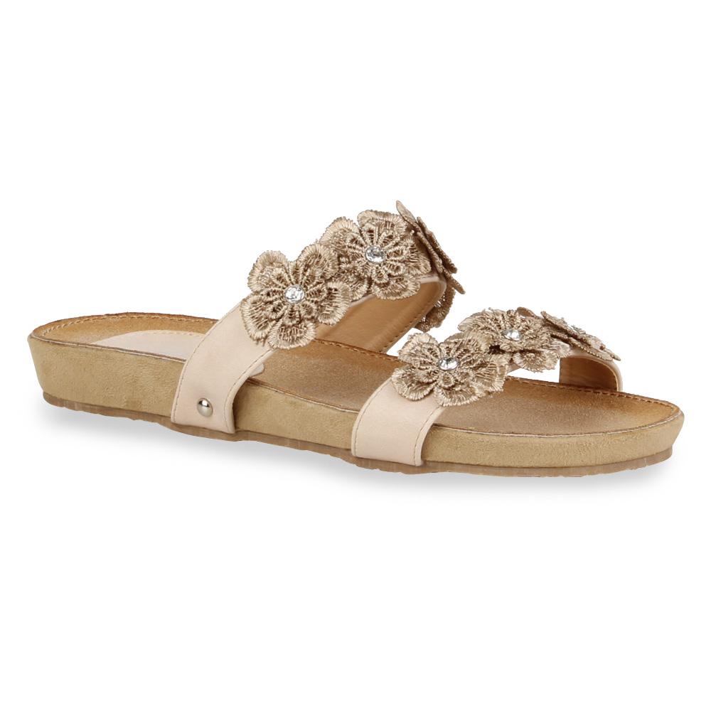 bequeme damen sandalen schlappen pastell hausschuhe 71231 gr 36 41 ebay. Black Bedroom Furniture Sets. Home Design Ideas