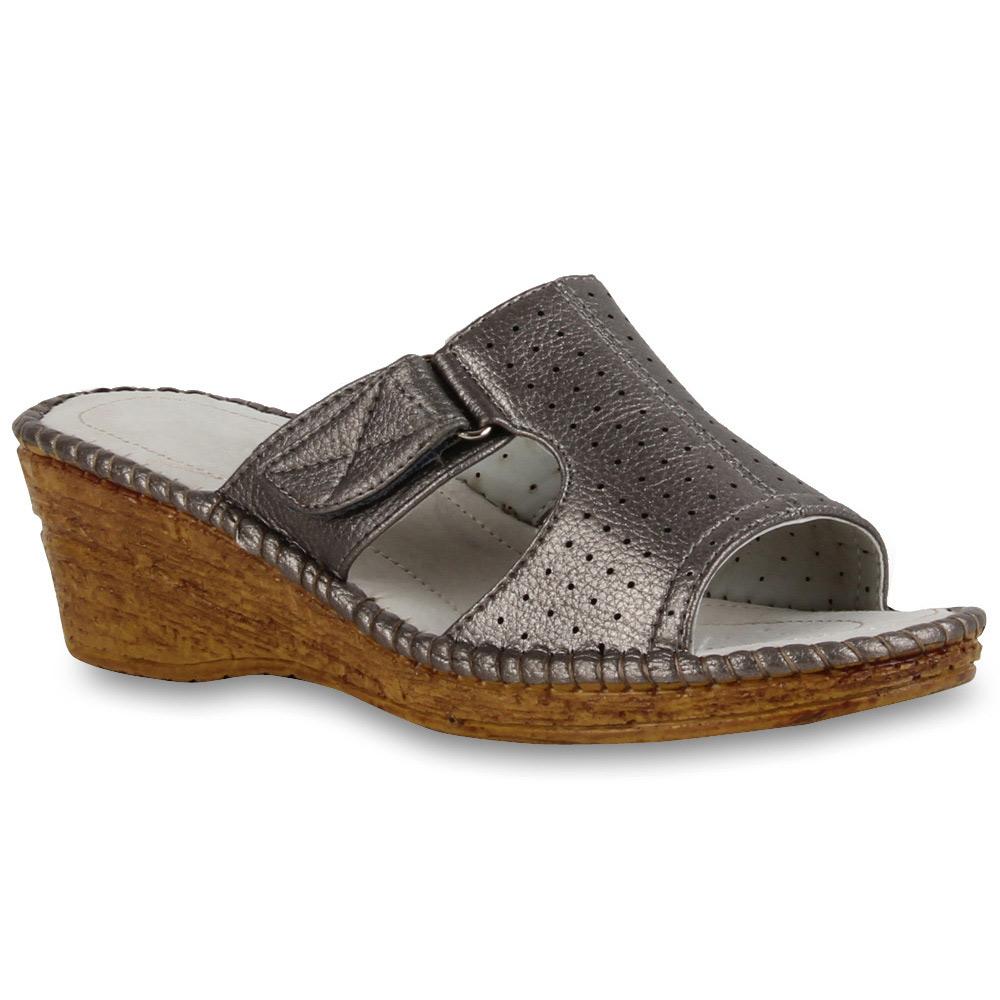 damen hausschuhe komfort sandalen puschen 71283 schuhe gr 36 41 stylisch. Black Bedroom Furniture Sets. Home Design Ideas