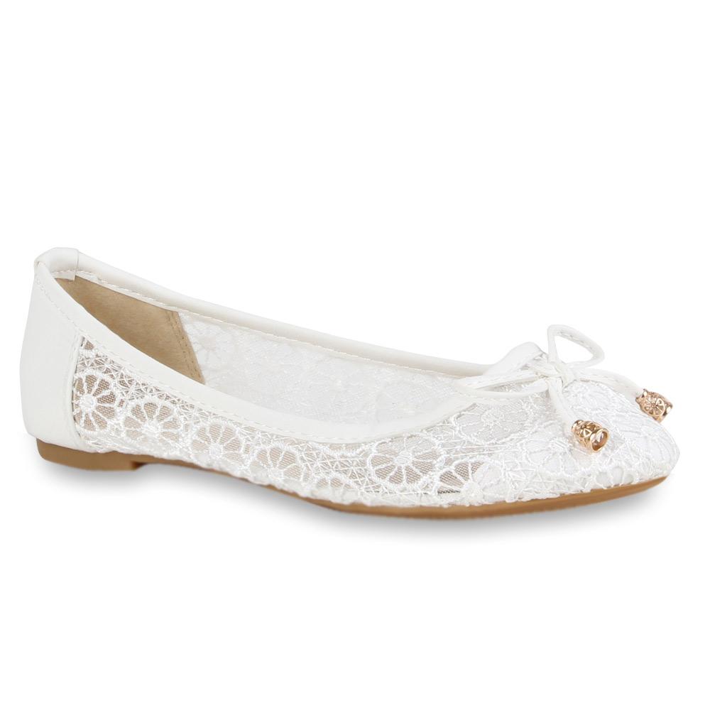 damen ballerinas spitze romantische slipper 71327 flats gr 36 42 ebay. Black Bedroom Furniture Sets. Home Design Ideas