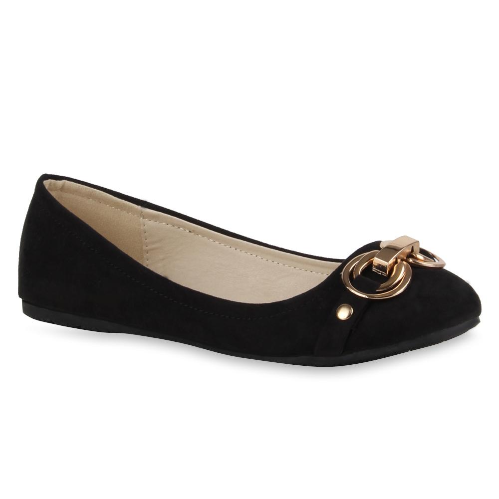 spitze damen ballerinas elegante slipper flats lederoptik schuhe 71449 ebay. Black Bedroom Furniture Sets. Home Design Ideas