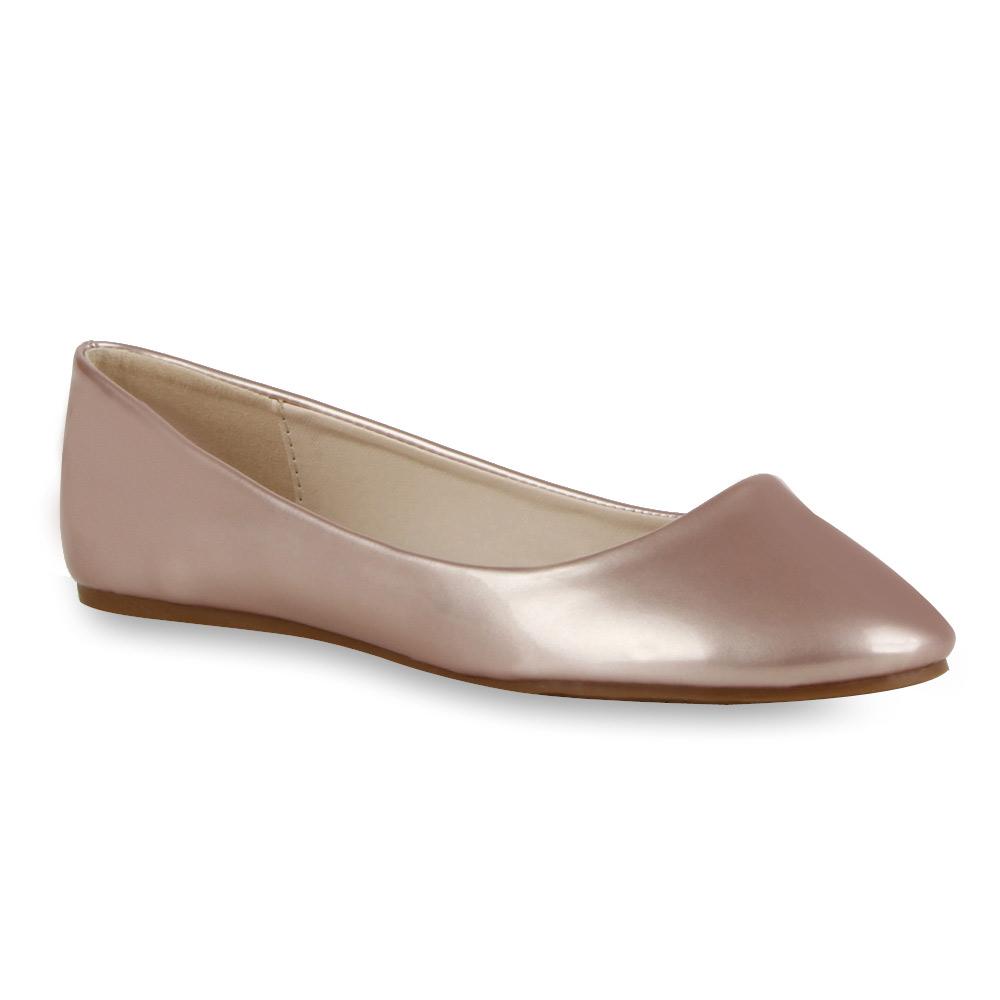 spitze damen ballerinas lack metallic pastell slipper schuhe 71534 modatipp ebay. Black Bedroom Furniture Sets. Home Design Ideas