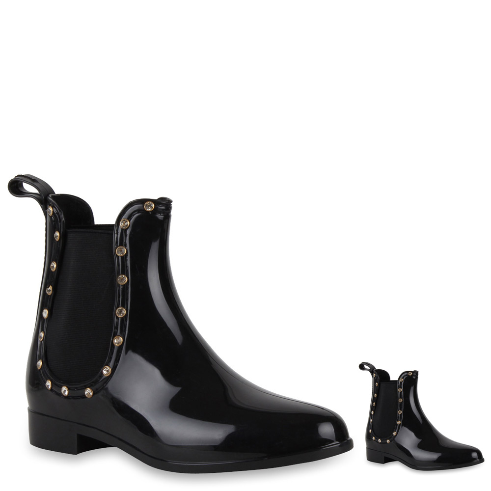 damen lack stiefeletten gummistiefel chelsea boots 71720 new look ebay. Black Bedroom Furniture Sets. Home Design Ideas