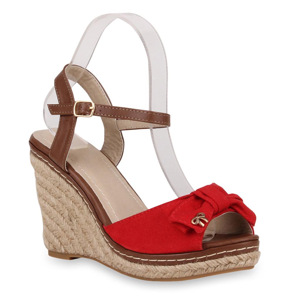 damen sandaletten high heels keilabsatz bast schuhe 71878. Black Bedroom Furniture Sets. Home Design Ideas