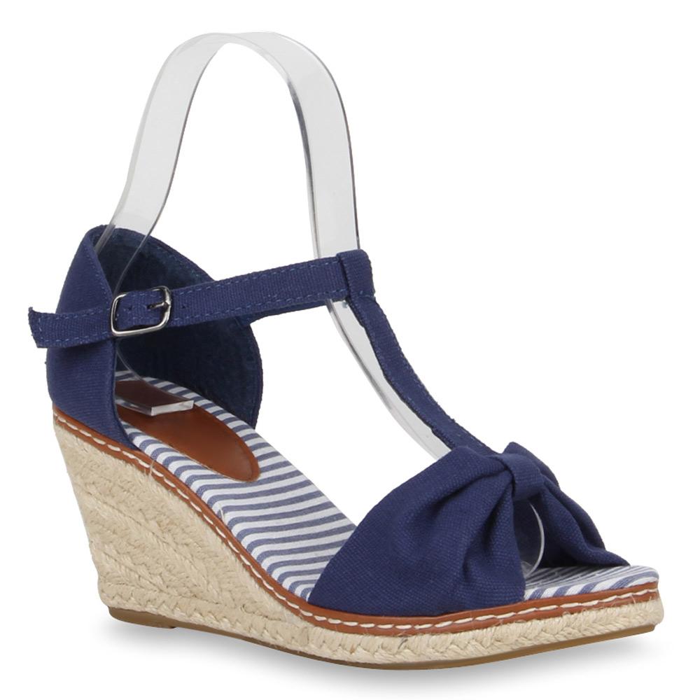 Schuhe mit keilabsatz blau