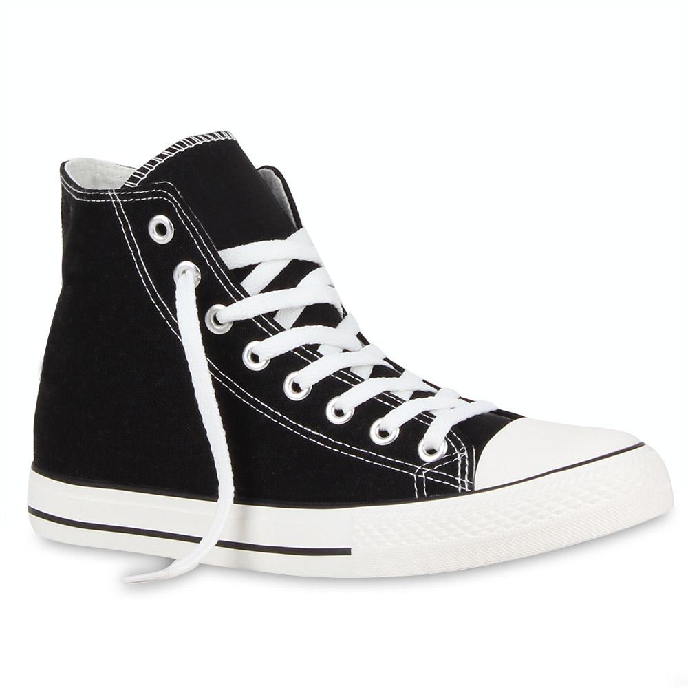 Neu Herren Damen Sneakers Kult Sportschuhe High Top Schuhe 199-582