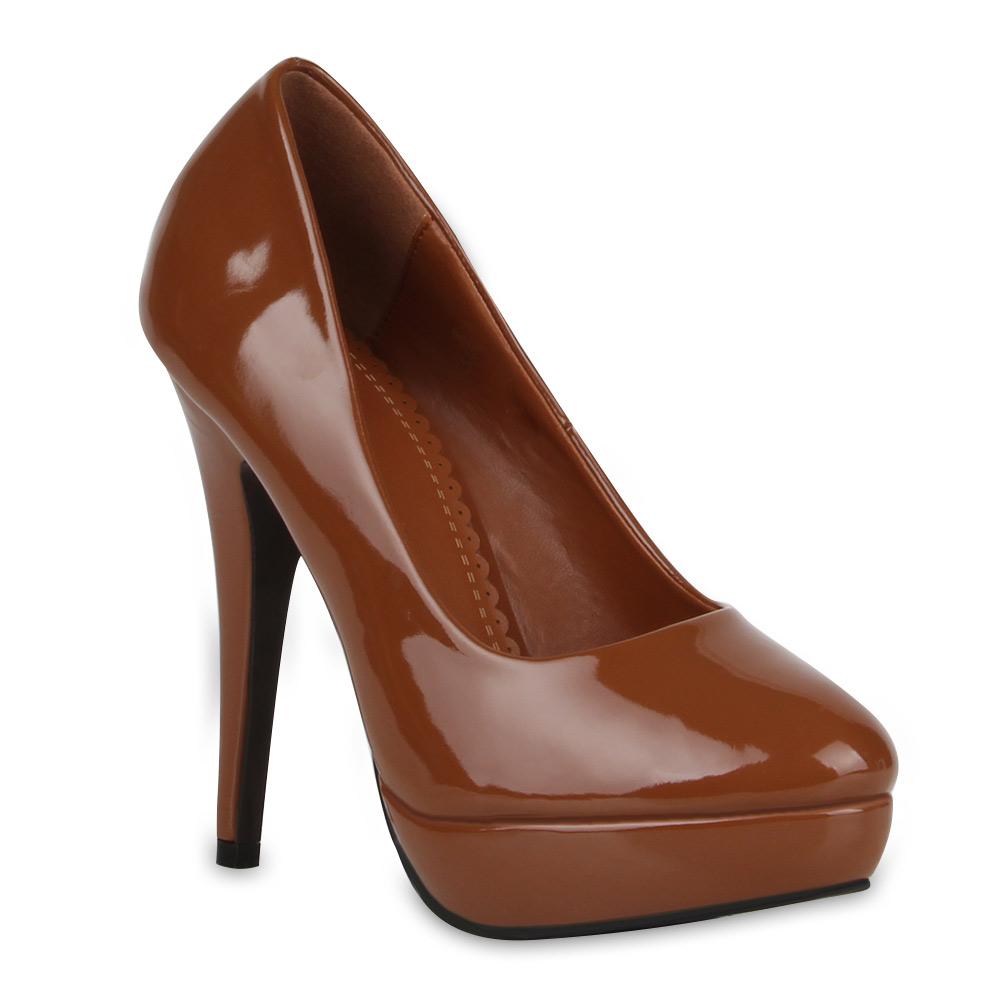 neu damen pointy pumps lack high heels plateau stilettos. Black Bedroom Furniture Sets. Home Design Ideas