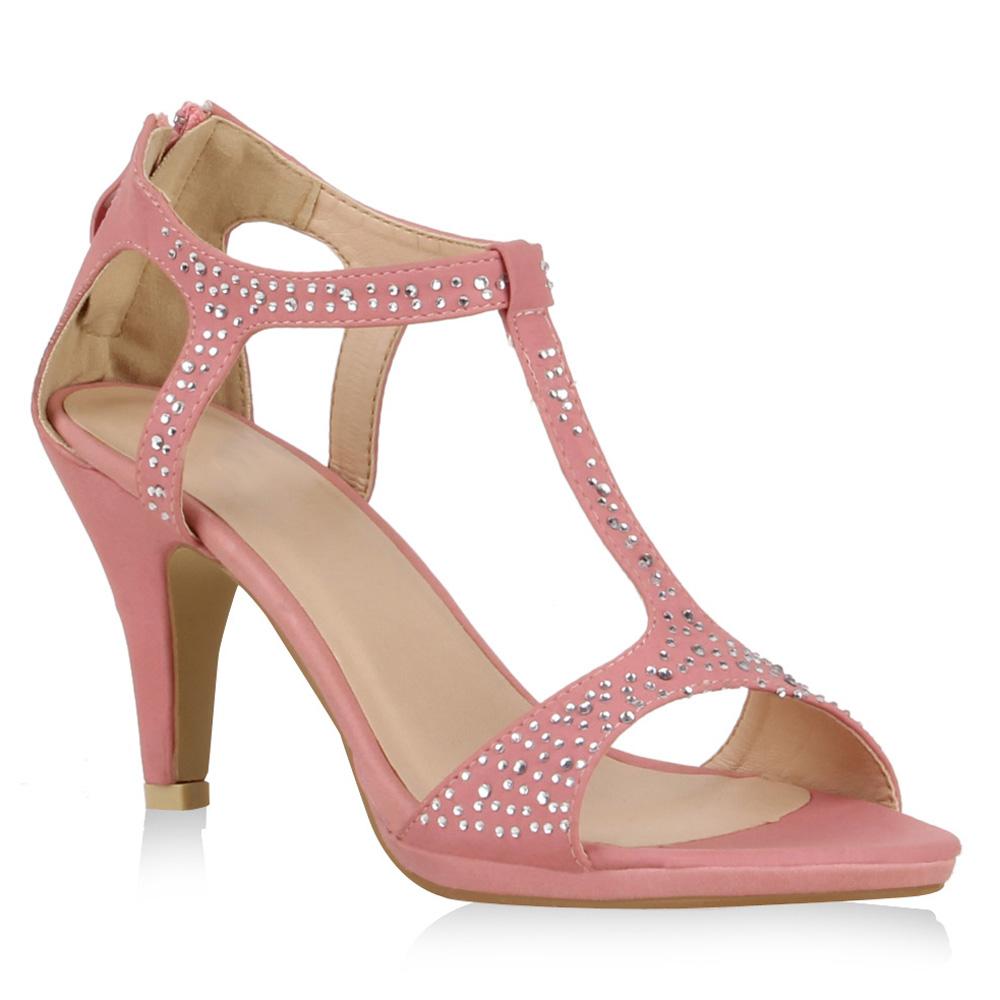 elegante damen sandaletten high heels strass schuhe t. Black Bedroom Furniture Sets. Home Design Ideas