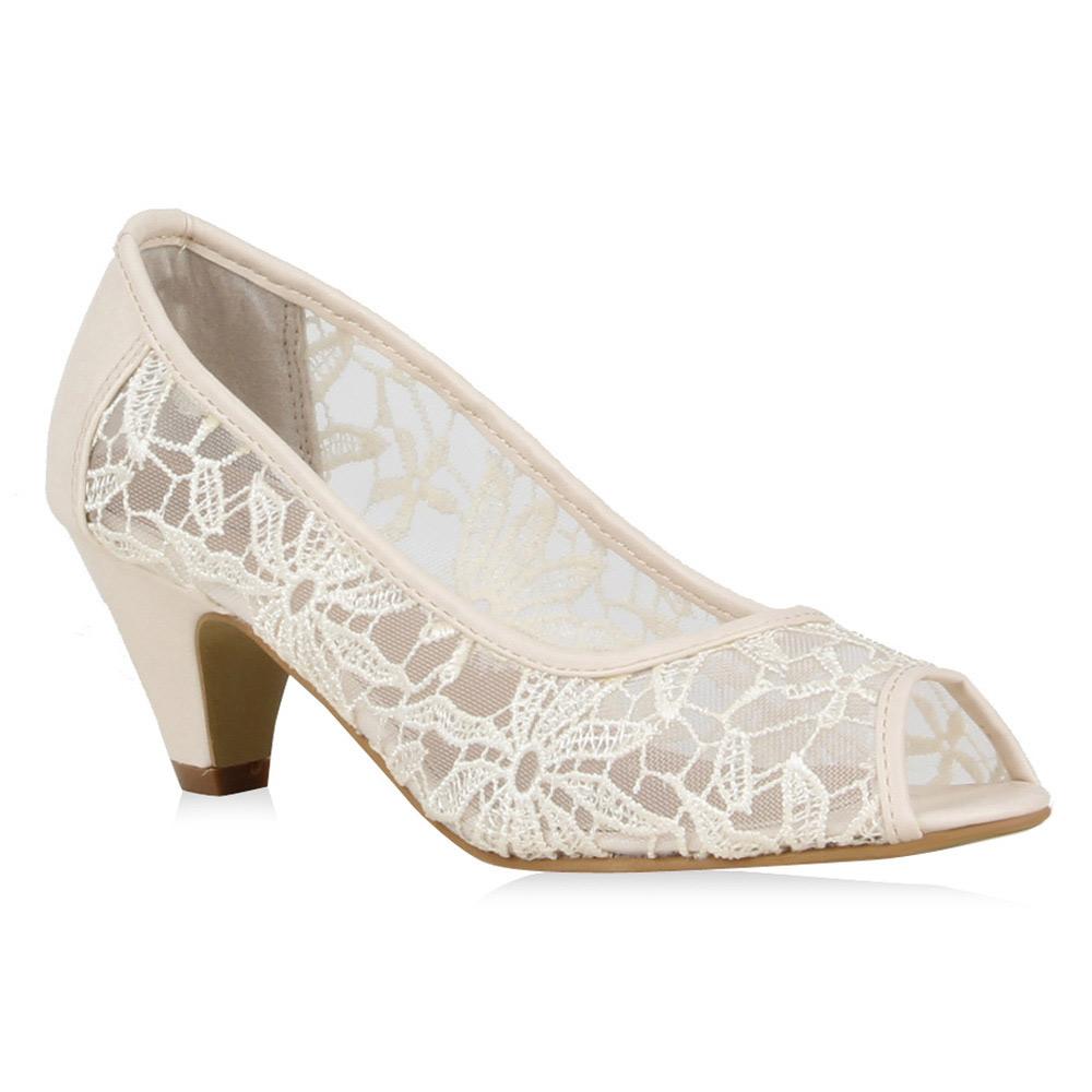 damen pumps spitze peep toes transparente sommer schuhe 72319 ebay. Black Bedroom Furniture Sets. Home Design Ideas