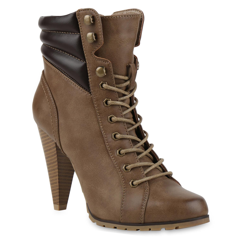 damen stiefeletten gef tterte schn rstiefel booties high heels 72341 new look ebay. Black Bedroom Furniture Sets. Home Design Ideas