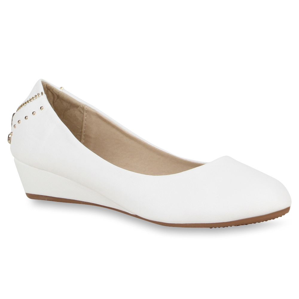 damen ballerinas keilabsatz pumps slipper 70969 flats gr. Black Bedroom Furniture Sets. Home Design Ideas
