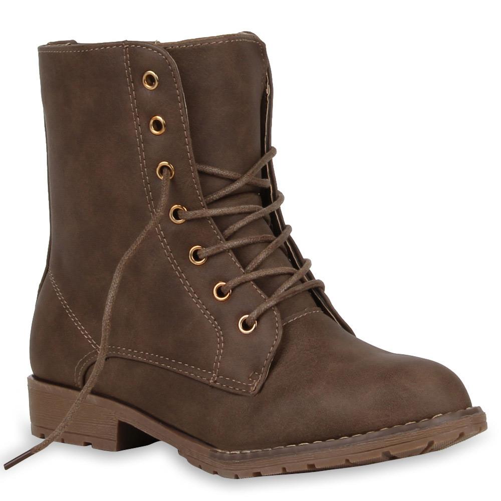 gef tterte damen stiefeletten worker boots winter stiefel. Black Bedroom Furniture Sets. Home Design Ideas