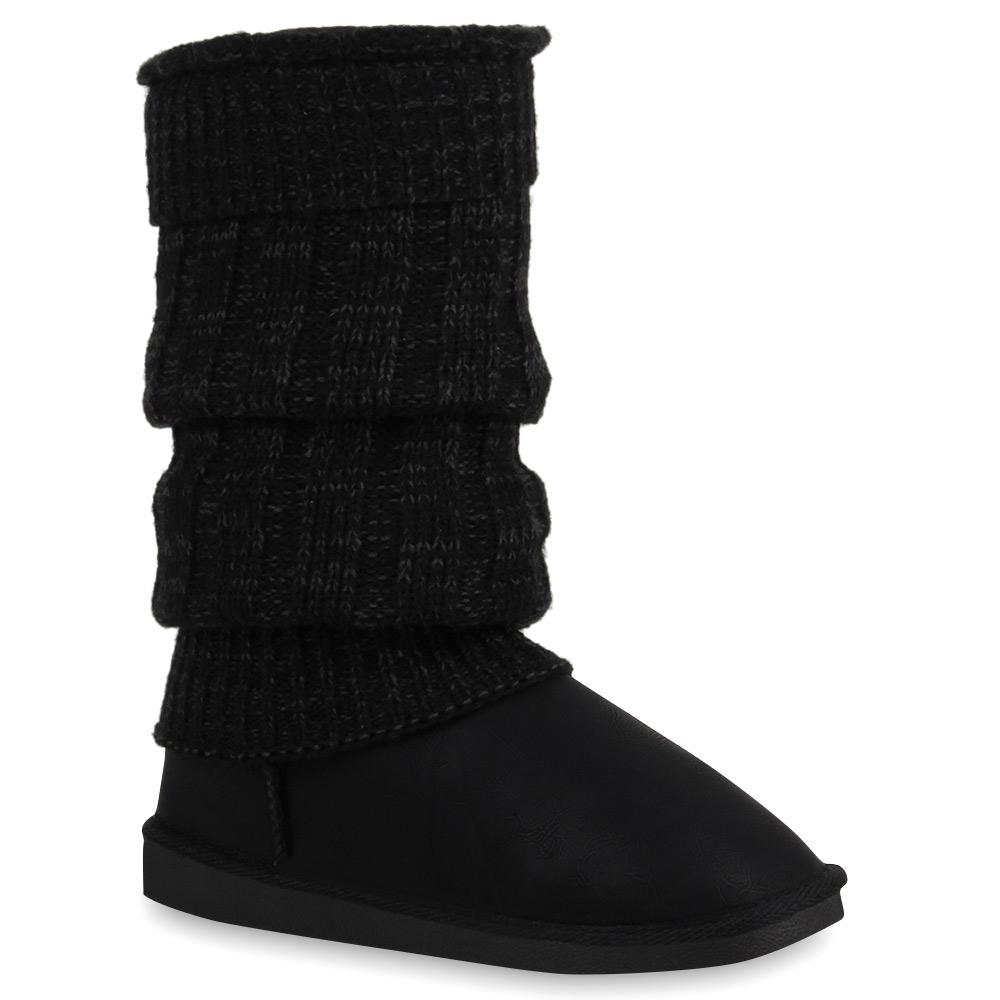 damen schlupfstiefel winter boots gr 36 41 stiefeletten gef ttert 890433 ebay. Black Bedroom Furniture Sets. Home Design Ideas