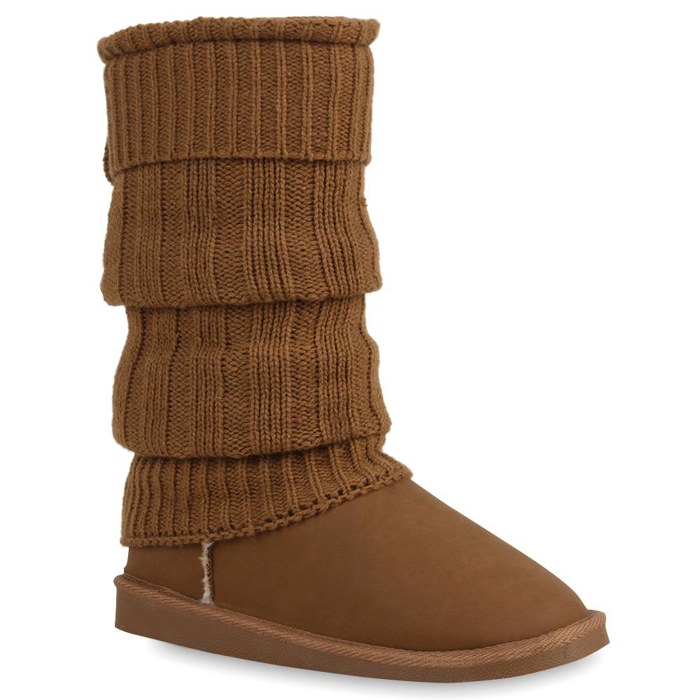 damen schlupfstiefel winter boots 36 41 stiefeletten gef ttert 890433 trendy ebay. Black Bedroom Furniture Sets. Home Design Ideas