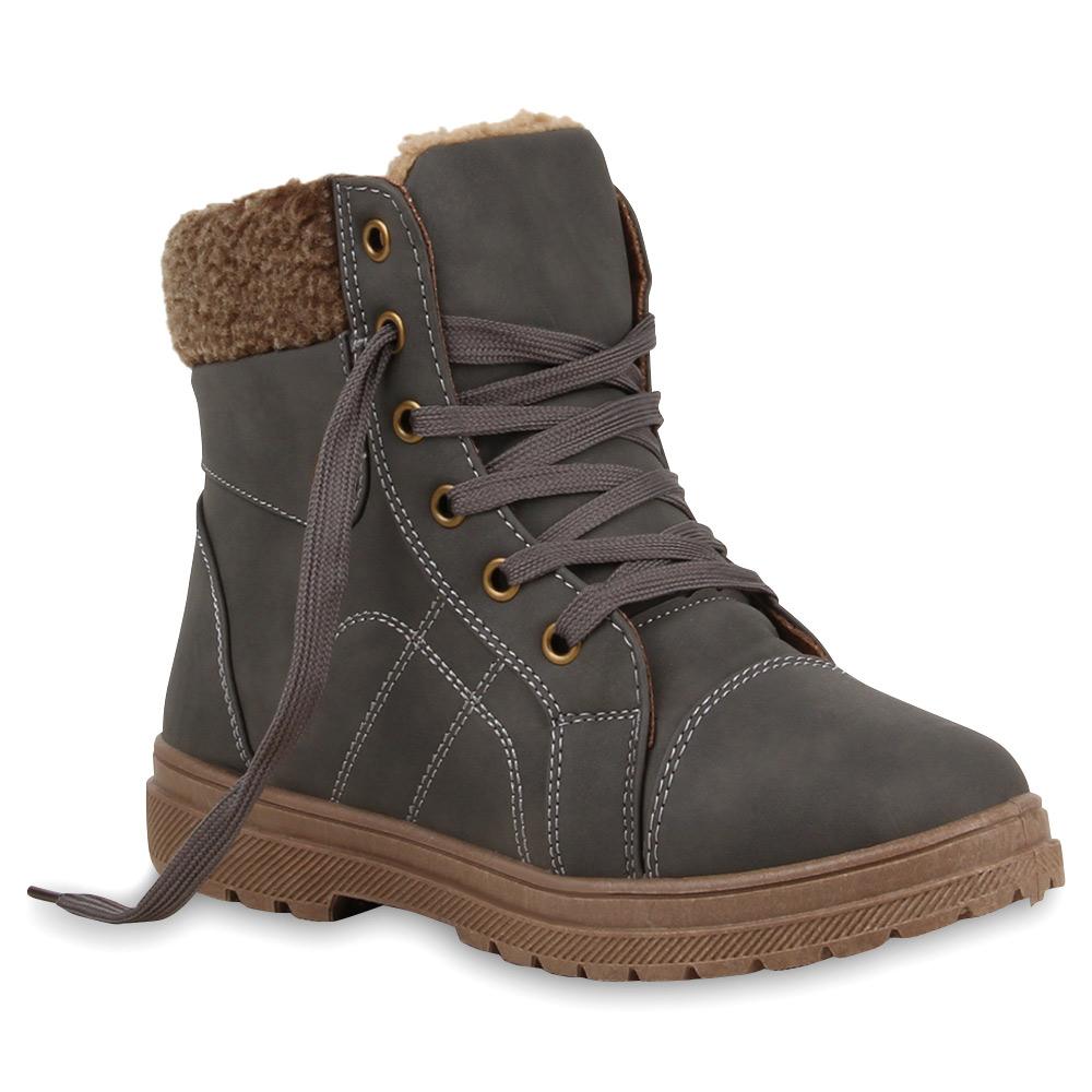 warm gef tterte damen stiefeletten outdoor boots schn rer. Black Bedroom Furniture Sets. Home Design Ideas