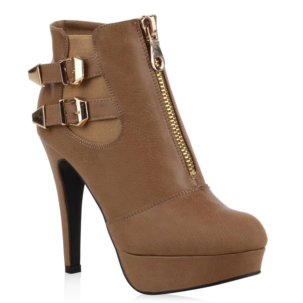 neu damen stiefeletten high heel chelsea boots plateau. Black Bedroom Furniture Sets. Home Design Ideas