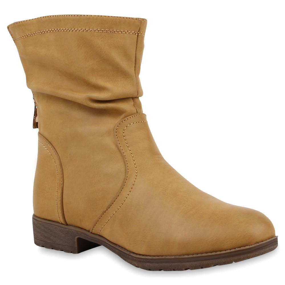 l ssige damen boots weitschaft stiefeletten stiefel 73151 trendy. Black Bedroom Furniture Sets. Home Design Ideas